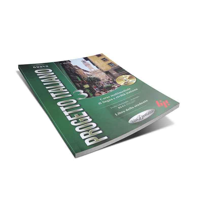منابع آموزش زبان ایتالیایی کتاب progetto italiano 3