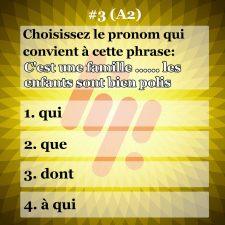 سوال شماره ۳ زبان فرانسه (سطح A2)