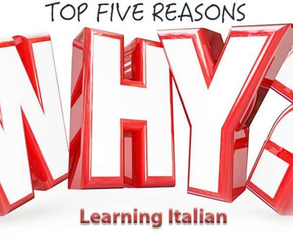 پنج دلیل برای یادگیری زبان ایتالیایی